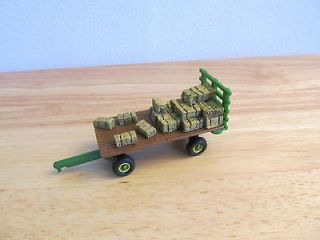 64th Ertl John Deere Hay rack wagon with bale load neat one here