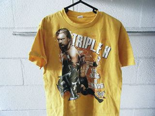 triple h king of kings t shirt wwe usa size youth lg