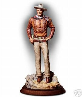 John Wayne Porcelain Statue   Franklin Mint   NEW