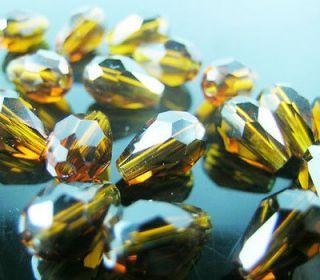 Exquisite Deep tiger color teardrop Swarovski crystal bead 6*8 mm 5500