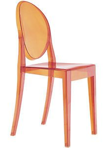 Kartell Victoria Ghost Dining Chair Orange by Philippe Starck RRP £