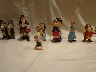 Lot of 8 Disney Chip Dale Hook Tinker Bell Wendy Pinocchio Jiminy