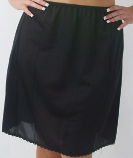 Valair Womans Classic Half Slip 20 Length in Black, Beige or White