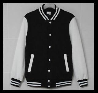 Men Baseball Jacket/Letterman Varsity jacket Black XL