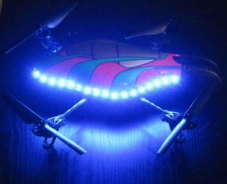 Parrot Ar Drone 2.0 UFO Blue LED Light Kit Outdoor Hull (VGE008)