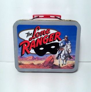 the lone ranger collectible tin tote lunch box