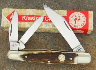 KISSING CRANE R.KLAAS ROSTFREI SOLINGEN GERMANY STAG WHITTLER KNIFE
