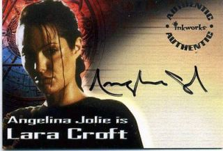 Tomb Raider Angelina Jolie Auto Card A1