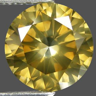 Sparkling Rarest 100%Natural Earth Mined Fancy Golden Yellow Diamond