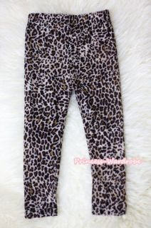 Baby Girl Leopard Print Trousers Legging Slacks Accessory For