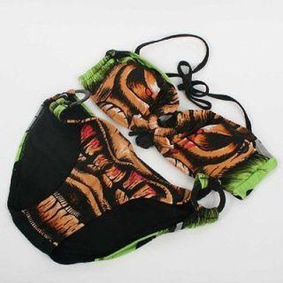 iron fist tiki bandeau bikini top and bottom size small