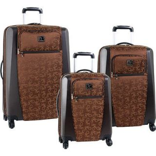 FURSTENBERG SIGNATURE HYBRID HARDSIDE BROWN 3 PIECE LUGGAGE SET $1080
