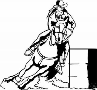 barrel racing decal rodeo window sticker 04 wr 6 time