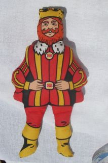 VINTAGE BURGER KING 14 INCH STUFFED DOLL MADE IN THE USA ( CIRCA