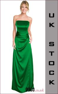 NEW EMERALD GREEN BRIDESMAID EVENING PROM CRUISE DRESS *UK8 22