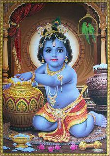 Baby Krishna, Lord Krishna   POSTER   {Size: 21x31} (#7418)