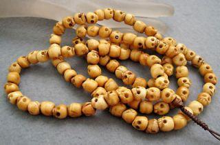 108 ox bone skull beads buddhist prayer mala necklace from