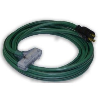 10) 25 ft 10/3 Generator Power Cord L5 30P Plug and (3) Lighted 5 15R