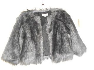 michael kors faux coyote fur cropped jacket sz xl