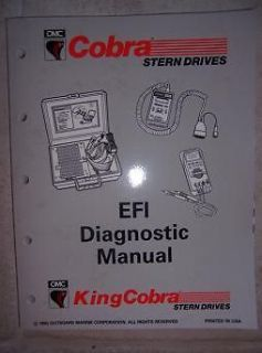 1992 omc cobra jv outboard efi diagnostic manual boat j