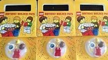 3x Lot LEGO Birday Cake Max Minifigure Builder License Party Favor