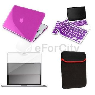 Crystal Case Cover for Macbook PRO 13+Keyboard Cover+LCD Screen+Bag
