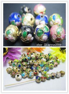 100pcs mixed color cloisonne Fit Charms Bracelet Spacer Beads 6mm 10mm