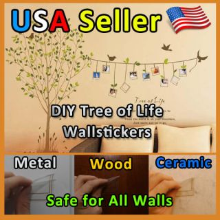 DIY Tree of Life Wall Decals/Arts for Home/Office with PhotoFrames*Ho