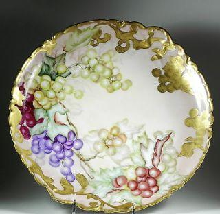 Superb Antique Haviland Limoges Large Charger Platter Hand Painted