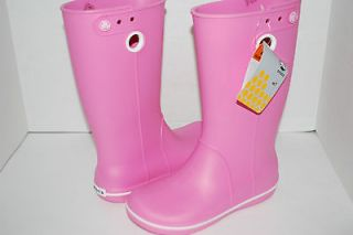 NWT NEW CROCS CROCBAND JAUNT WOMEN 8 PINK LEMONADE rain boots galoshes