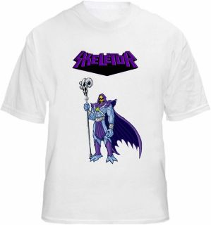 skeletor t shirt evil cartoon retro tee skeleton more options size