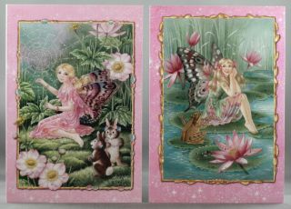 BULK 10 BLANK SHIRLEY BARBERS FAIRIES GIFT GREETING CARDS