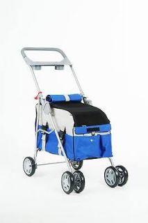 Blue 3 In 1 Pet Dog Cat Stroller/Carrier/Car Seat