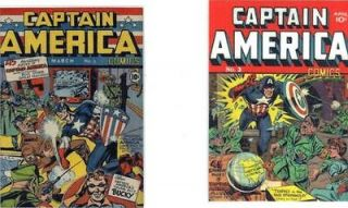 REFRIDGERATOR MAGNETS(LOT OF 2)CAPTAIN AMERICA #1,2 GOLDEN AGE!!!!REAL