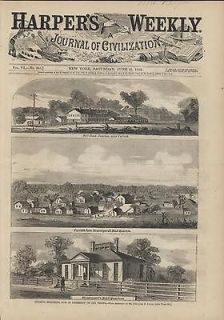 Corinth Mississippi 1862 Harpers Weekly antique engraved print
