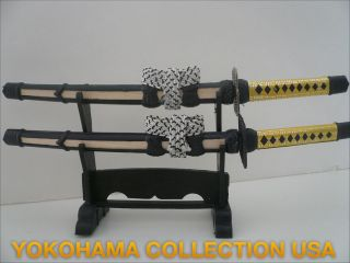 japanese samurai sword letter opener double w stand one day