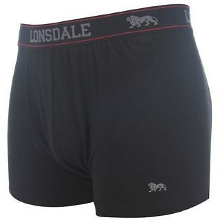 LONSDALE London Mens Boxer Shorts Trunks BLACK S M L XL XXL 3XL