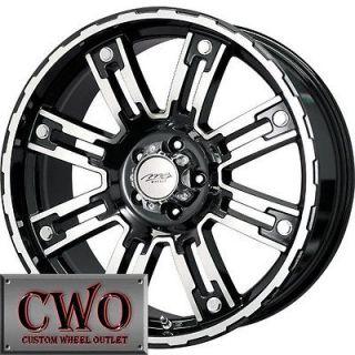 18 Black Stryker Wheels Rims 6x139.7 6 Lug Titan Tundra GMC Chevy 1500
