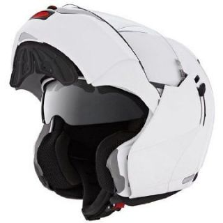 Caberg Justissimo GT White Flip Up Motorcycle Helmet Blue Tooth Ready
