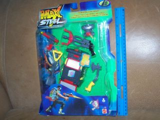 mattel 2000 max steel tornado explorer mission pack nip time