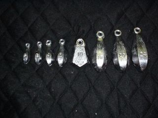 10  24oz bank sinkers   lead fishing weights   made from a do it mold