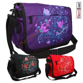 Womens Floral Pour Moi School College Laptop Flapover Messenger Bag