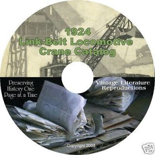 1924 link belt railway crane catalog on cd from canada