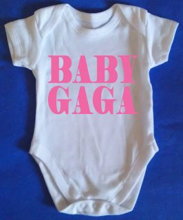 BABY LADY GAGA Baby Vest Grow Body Suit Baby Clothes cute kids vest