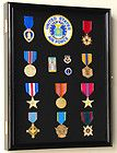 lapel pin patches medal display case cabinet shadow box solid