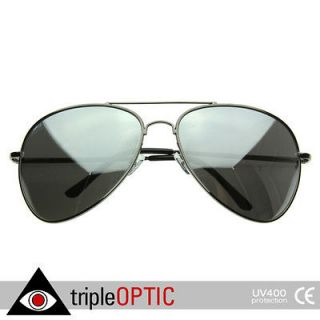 Big Extra Large Metal Aviators FULLY Mirrored Aviator Sunglasses