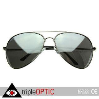 Big Extra Large Metal Aviators FULLY Mirrored Aviator Sunglasses