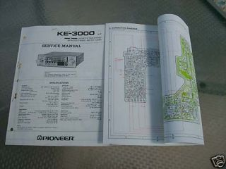 pioneer car tape player service manual ke 3000 lot 216