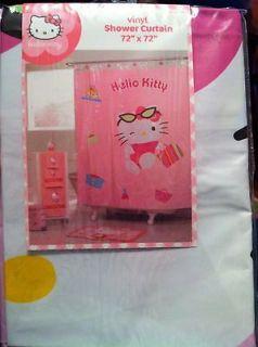 Hello Kitty Vinyl Shower Curtain   72 x 72   SHOPPING HELLO KITTY