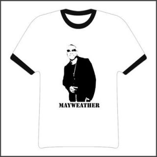 floyd mayweather boxing red ringer t shirt